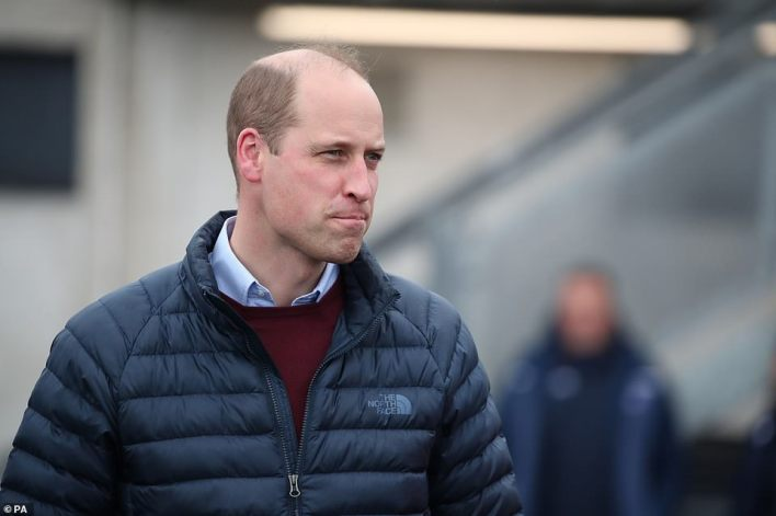 The former royal suggested his father, Prince Charles, had allowed him and his brother Prince William (pictured yesterday) to 'suffer' when it came to the media because of his own negative experiences