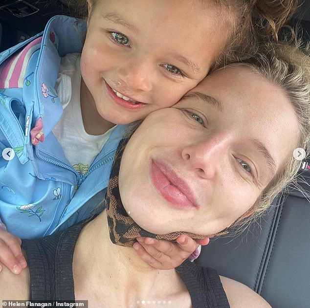 Cute!Helen had s been enjoying a UK staycation with her fiancé Scott Sinclair and their three children, Matilda, five, Delilah, two, and their two-month-old son Charlie