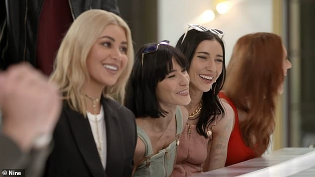 Double the laughs! 'I've got an original picture of you here. I thought you were joined at the head,' he told The Veronicas' Jess and Lisa Origliasso