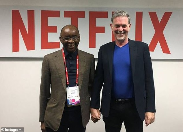 Mr Masiyiwa is a member of the Netflix board. Here he is in a picture her shared on Instagram with the company's co-founder Reed Harrison in 2019