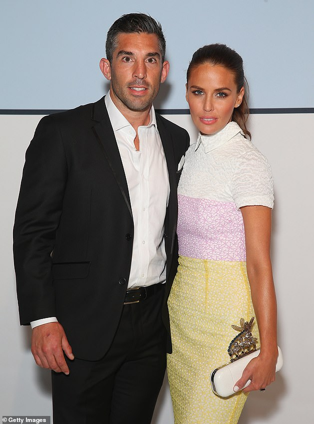 Exes: Braith (left) and Jodi married in 2012 and welcomed Aleeia in 2014, before going their separate ways the following year.  Photographed together in August 2015