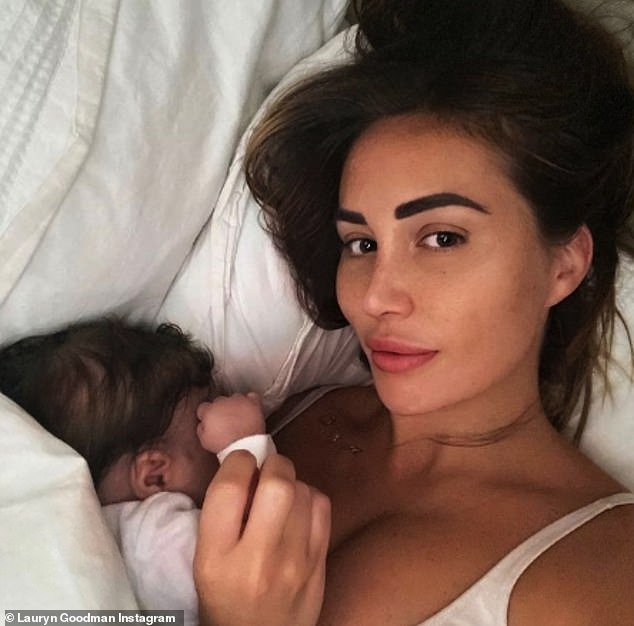 Youngest son: The Manchester City ace shares 13-month-old son Kairo with Lauryn Goodman