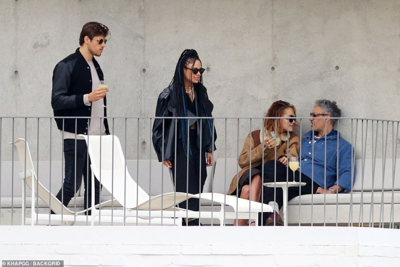 Guests: Australian modelZac Stenmark was also seen enjoying some drinks at Taika's place with Tessa and Rita