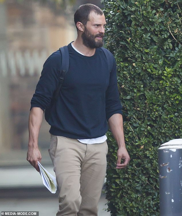 Enthusiastic:Jamie previously said of the role: 'The Tourist are some of the most exciting scripts I've ever read. I can't wait to go to Australia with such a talented group of people'