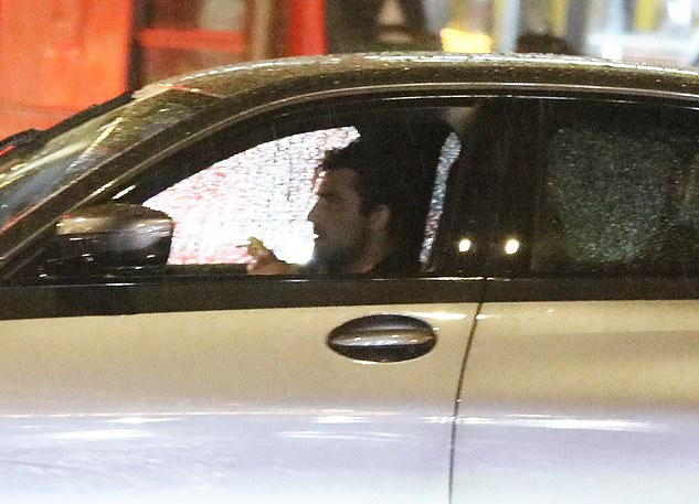 On the move: After sharing their kiss, Jack and Frankie left together from the London bar in the former Love Island winner's car