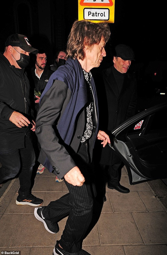 Home time: After leaving the venue Mick made his way to his car as he decided to call it a night
