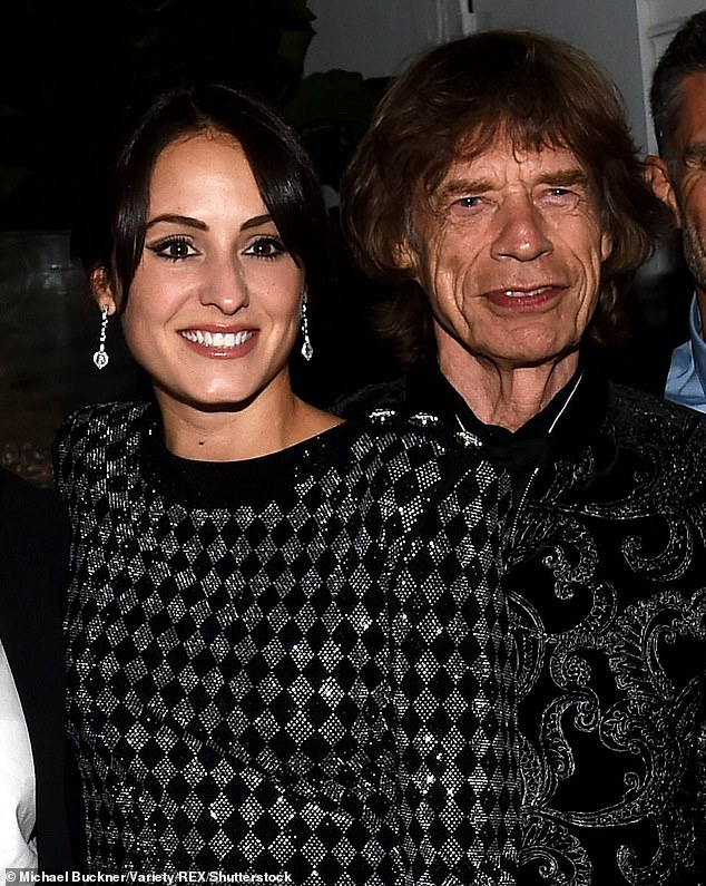 Happy: Mick met Melanie following the death of his girlfriend L'Wren Scott (Mick and Melanie pictured together in 2019)
