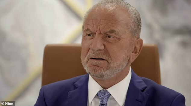 Moving on:While their little tiff wasn't solved in the meeting, Lord Sugar continued: 'Ross got some very strong views on this and we think it's personal in your opinion'