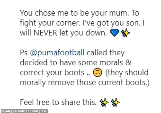 Furious:Taking to Instagram to share her rage, a furious Lauryn slammed Kyle for using his young son as a stepping stone to attack her