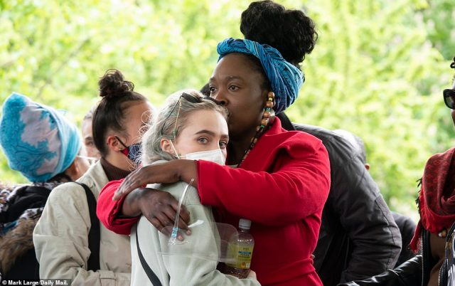 A vigil held in Ruskin Park, South London by friends and supporters of Sasha Johnson