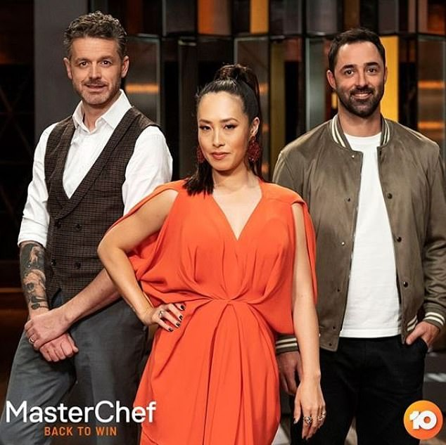 Coming soon: Channel 10 has confirmed a new season of Celebrity MasterChef. Pictured L-R are judges Jock Zonfrillo, Melissa Leong and Andy Allen