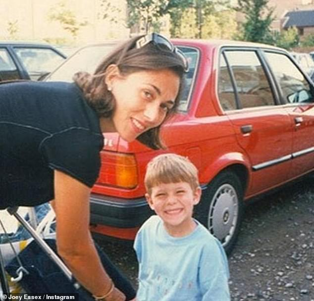 Heartbreak: The former TOWIE star, 30, was just ten-years-old when his mother Tina took her own life after battling depression