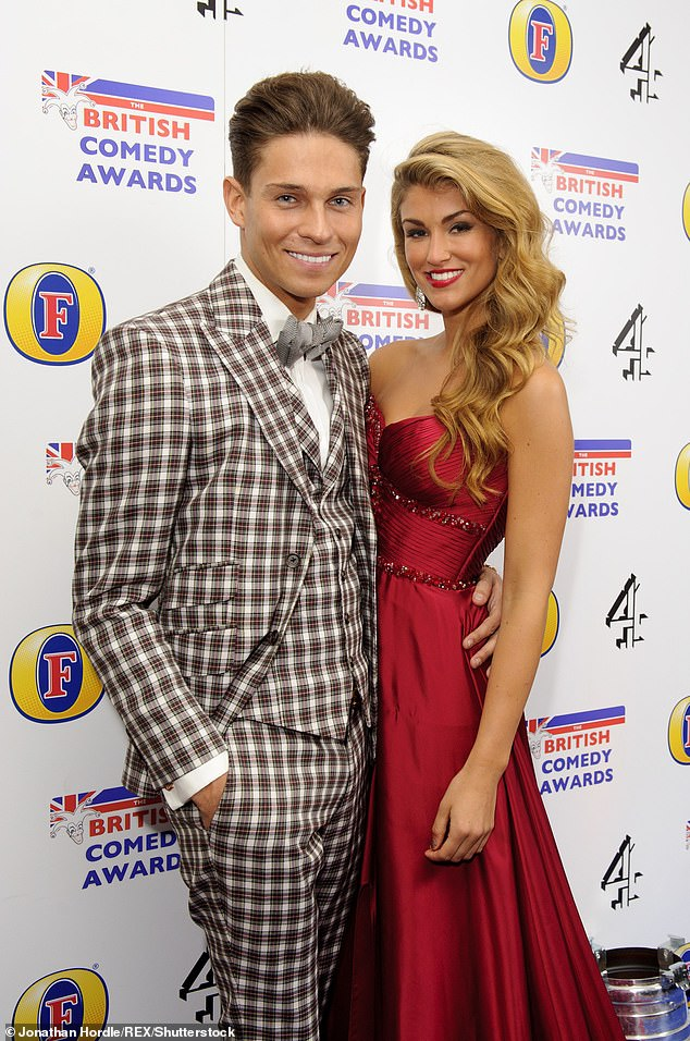 Past romance: Joey was also linked to Amy Willerton after their stint in the I'm A Celebrity jungle (pictured in 2013)