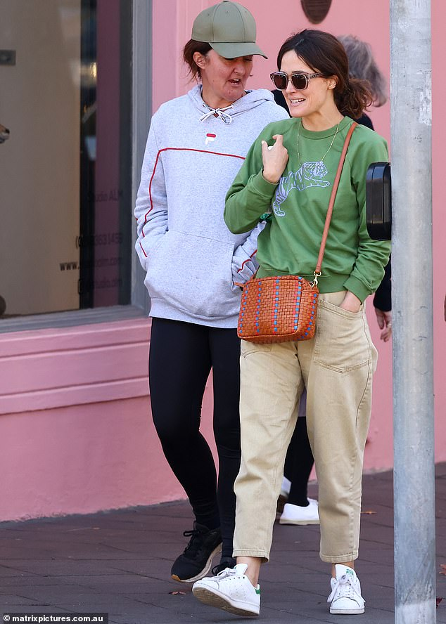 Slip:She revealed how the couple recently spent their mandatory 14-day quarantine in Sydney after arriving Down Under from the US for movie projects