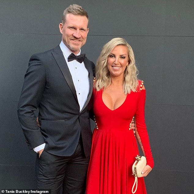 Over:The pair's relationship emerged just weeks after the champion midfielder announced his split from his wife of 18 years, Tania Minnici (pictured), last December