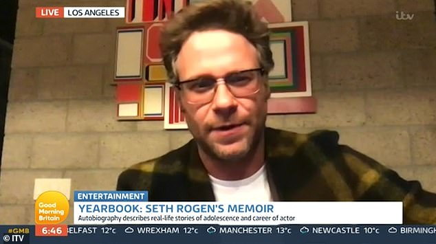 Oh my!Seth Rogen used strong language and spoke of using weed use 'all day, every day' during an interview on Good Morning Britain on Tuesday