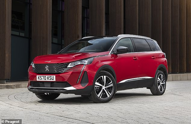 Another seven-seat SUV makes it into the list, this time the Peugeot 5008 that combines MPV space with a raised ride height