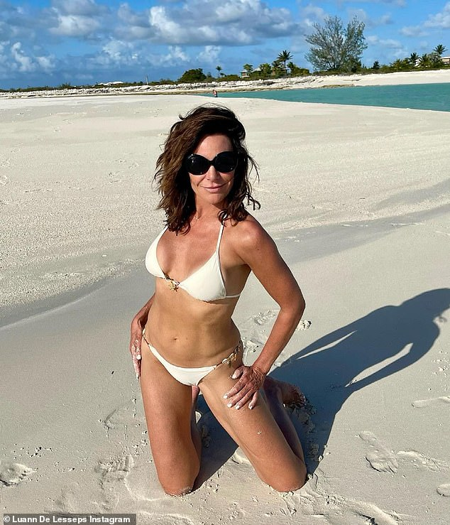 No ring here: Luann was ring free in the Turks And Caicos last month for the All Star Special