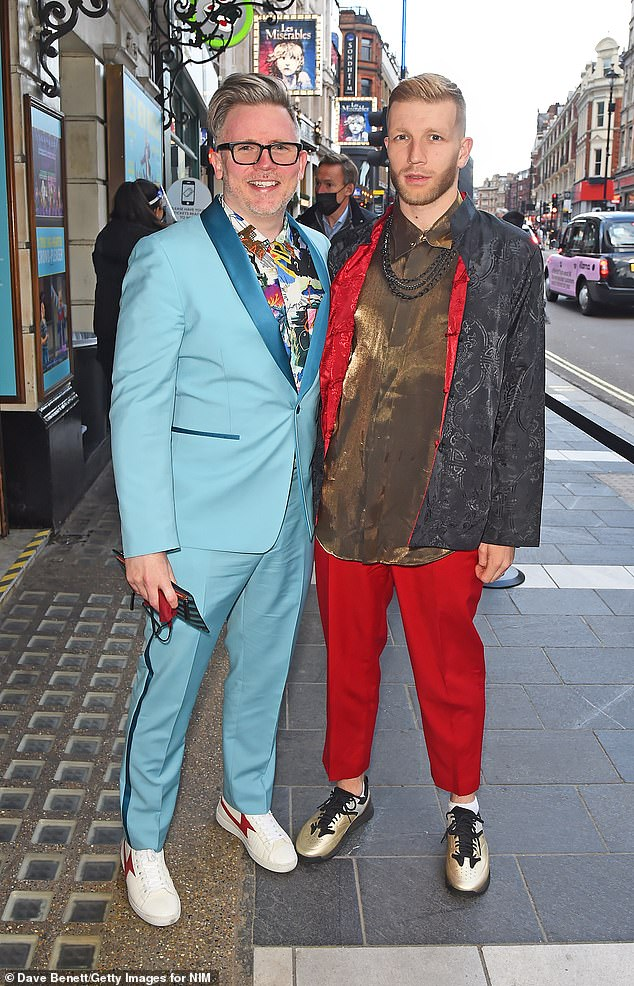 Suited up: Tom MacRae and Dannie Pye turned heads in loud ensembles