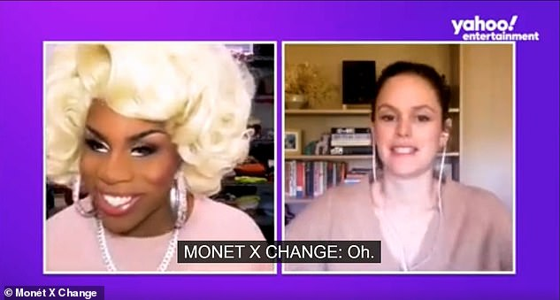 Dream guest: Rachel - who played brainy beauty Summer Roberts - recently told Monét X Change (L) that she 'would love to get' Mischa Barton on her podcast: 'I just had lost touch with her so long ago'