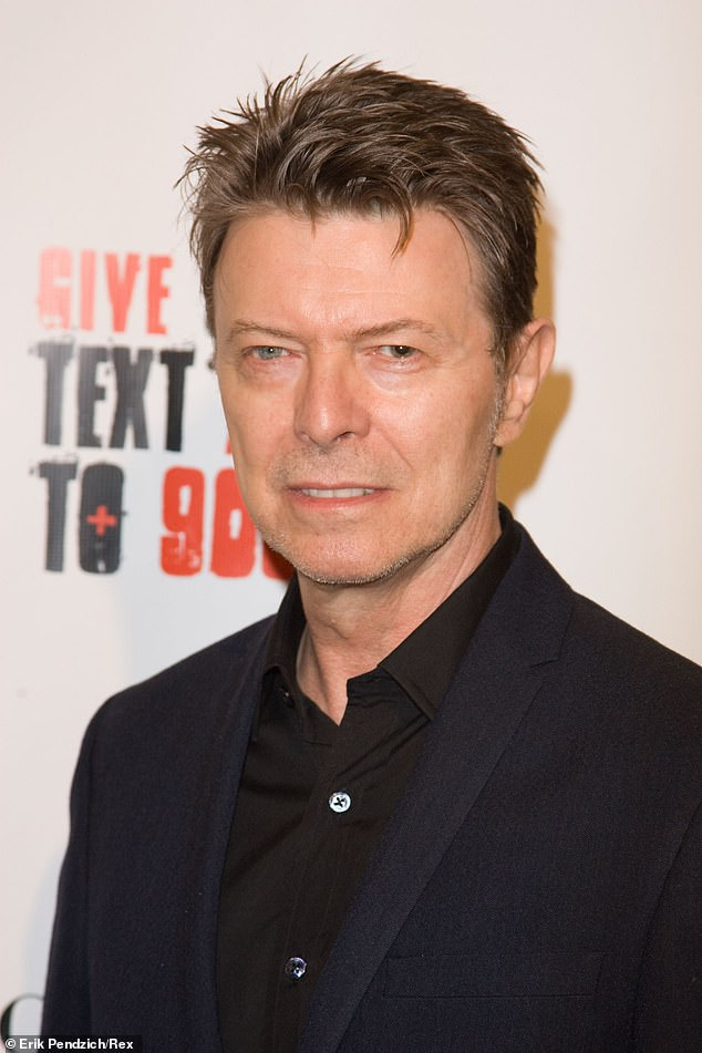 Star connections: According to a report by The Daily Telegraph's realestate.com.au on Tuesday, the luxury property in Numinbah is where David Bowie rewrote his hit, China Girl. Pictured at a charity ball in New York City in November 2008