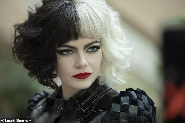 Star: The film is a prequel to Disney's 101 Dalmatians and follows a young Estella de Vil, an aspiring fashion designer in 1970s London played by Emma Stone (pictured)