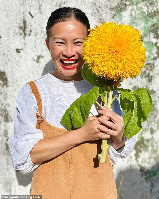 Wallflower: She was a fan favourite on MasterChef with her quirky, effervescent personality, but Poh Ling Yeow has confessed she suffers from 'crippling' shyness in real life