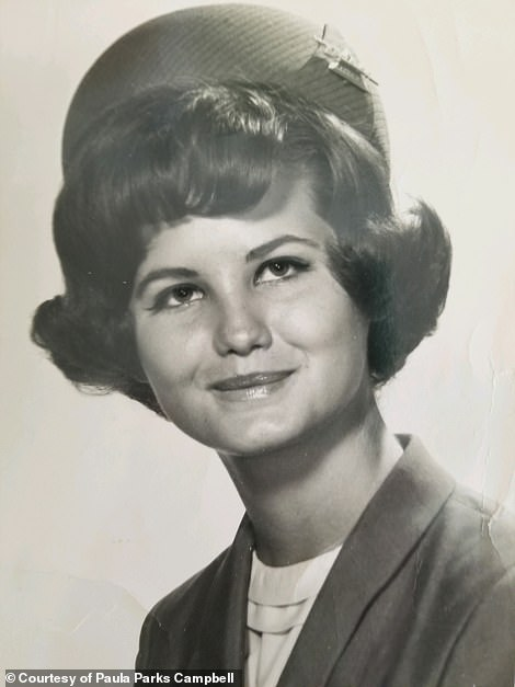 Paula Parks, above, had just started with Delta in 1969 when she metAbagnale, who was then posing as a TWA pilot, on a flight, she told DailyMail.com. He ended up meeting her family in Baton Rouge, taking them up on their Southern hospitality, staying with them and then stealing checks from them, according to The Greatest Hoax on Earth