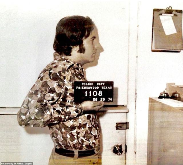 On August 29, 1974,Abagnale, then 26, was arrested, above, for the thefts at the camp. However, Logan noted in his book, that the judge 'knocked his low-level felony cases down to misdemeanors and just dispensed fines. So, once again, Abagnale looked set to skate through the system.' In a November 27, 2017 Talks at Google,Abagnale said he had only been arrested once when he was 21 - an assertion the book disputes