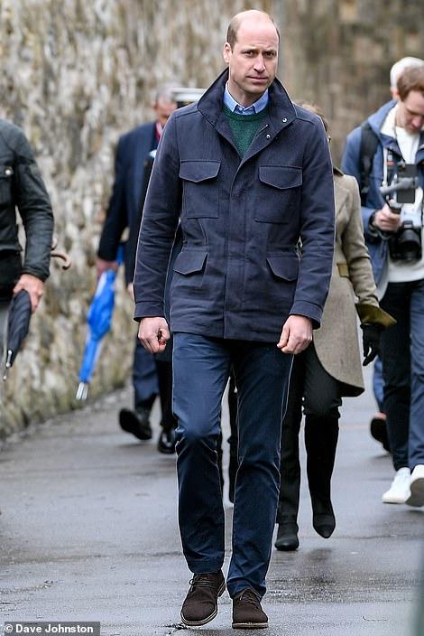 William arriving at St Andrews