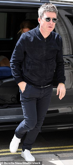 Here he is: Noel was seen making his way into Absolute Radio studios in London on Wednesday