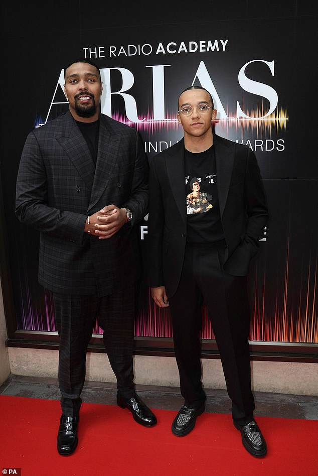 Star-studded:Also making an early appearance on the red carpet were Diversity stars Jordan Banjo and Perri Kiely