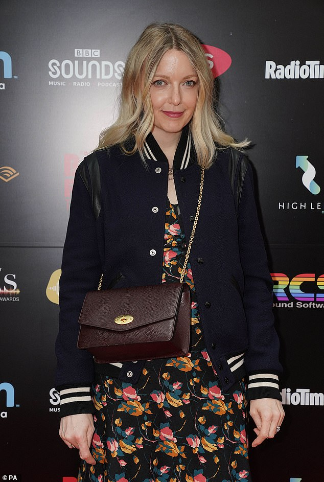 Don't falter: Radio mainstay Lauren Laverne donned a pretty floral dress with a nautical-inspired cardigan