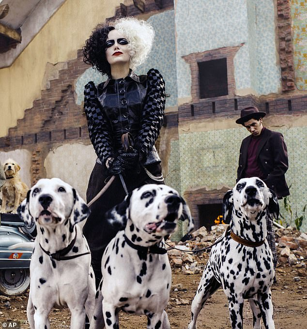 Emma Stone and Joel Fry in a scene from Cruella.It is 25 years since Glenn Close played Cruella in 101 Dalmatians