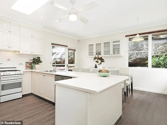 A room with a view: The property boasts views over Castlecrag's north escarpment and is close to the village's cafes and shops
