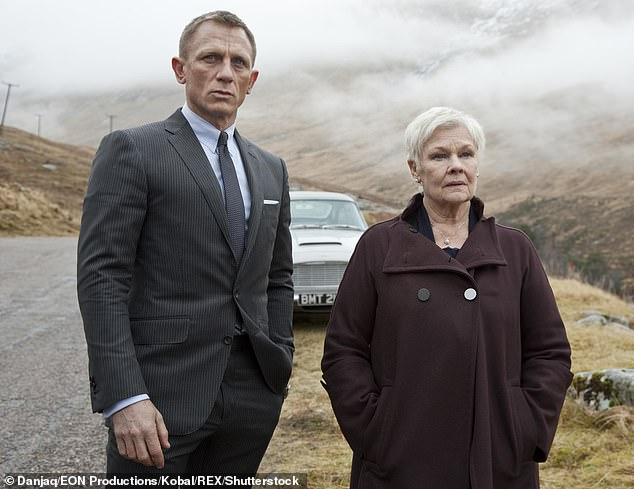 Honest: 'The script isn¿t so funny, I know, I agree' the award-winning actress revealed when she was asked if she thought the latest Bond films were 'gloomy'
