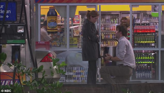 Store:The shot was the most expensive in The Office history because the convenience store Jim decided to propose to Pam at was built completely from scratch