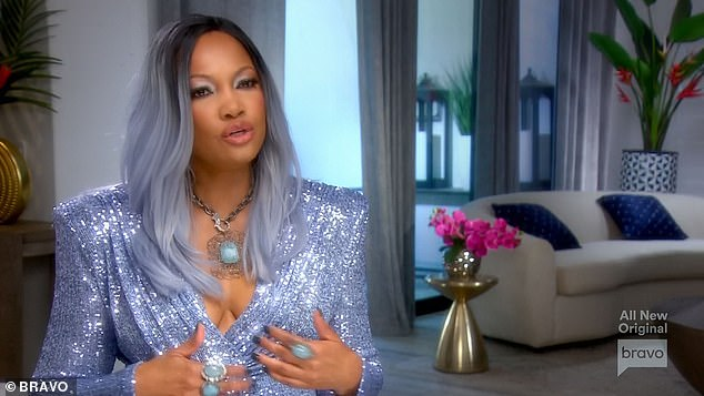Little bubble:In a confessional, Garcelle said, 'I feel like people in Beverly Hills are in their own little bubble: ''Where'd you get that handbag? Where'd you get that piece of jewelry?'' No one has ever asked me, ''What's it like, being a black woman in Hollywood?'' And sometimes, that makes me feel like an outsider'