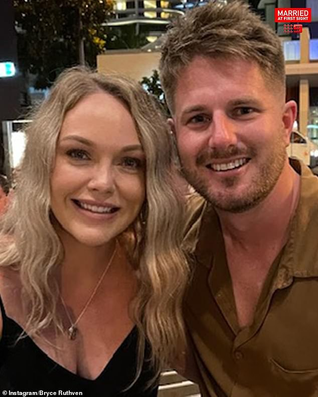 Stain: The toilet paper shortage was just another stain on the horror year the former Canberra radio host has endured ever since he appeared on Married At First Sight. He is pictured with his 'wife' Melissa Rawson, whom he was accused of gaslighting on the show
