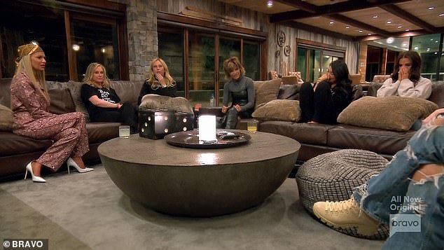 Good times:Before dinner, the women gathered in the main room and poked fun at Kathy for confusing Kyle with Garcelle at a recent party