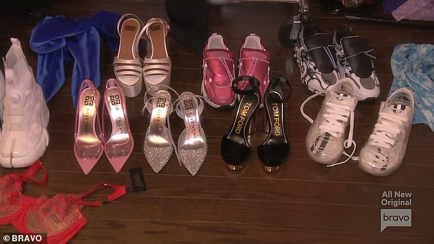 More shoes: Lucybluntly told Crystal one of her dresses was ugly and keened when she saw a new shoe delivery arrive at the house: 'Mas zapatos? How many foot you have?'