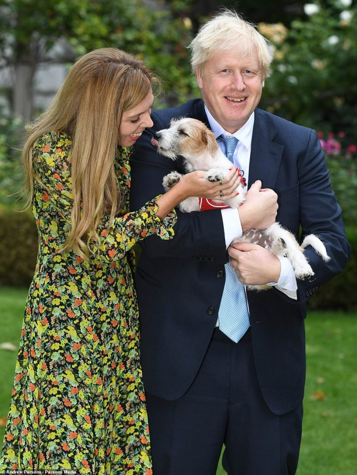 Mr Cummings said that despite the panic, the Government remained obsessed with matters such as a military request from Donald Trump and Carrie Symonds' anger over reports about her dog Dilyn