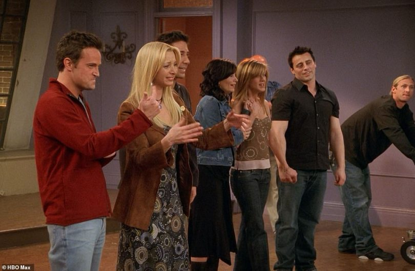 Sad end: 50 million viewers tuned into Friends' final episode when it aired in 2004, and the cast struggled to hide their tears as they filmed the concluding scene