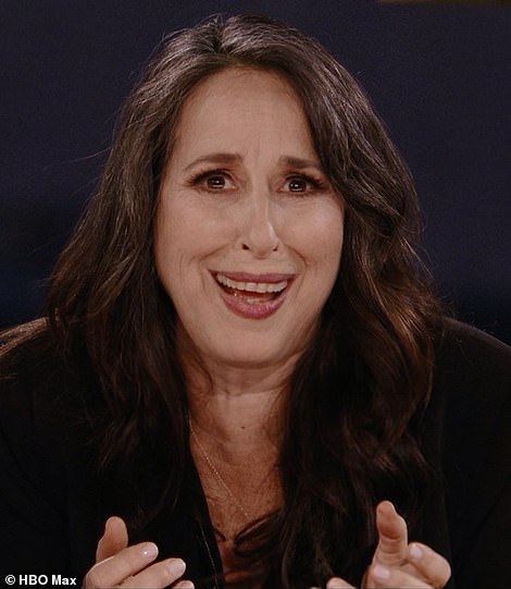 Oh. My. GOD! Several of the show's best recurring characters were guests in the special, including Chandler's girlfriend Janice (actressMaggie Wheeler is pictured)