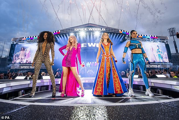Will it happen? Fans have hoped The Spice Girls could reunite for their 25th Anniversary, and in January Mel B said they would get back together 'as soon as the rules will allow it'