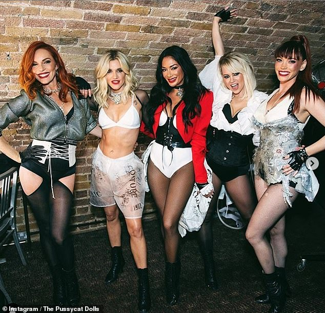 Back on the road: The Pussycat Dolls - consisting of Ashley, Nicole Scherzinger, Kimberly Wyatt, Carmit Bachar and Jessica Sutta - are scheduled to go on tour this month (pictured 2020)