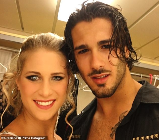 Honest:Graziano told how he and Griada, who recently celebrated five years together, are already like 'husband and wife' but said the fact they have to keep delaying their ceremony is 'hurting'