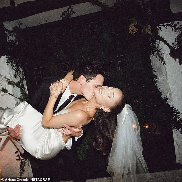 I do:The Thank U, Next hitmaker tied the knot with Dalton Gomez in a low-key ceremony with just 20 guests at their Montecito, California home earlier this month