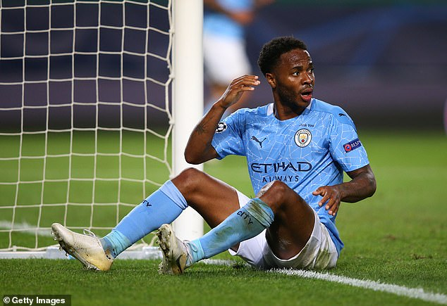 Raheem Sterling cannot believe he has missed as City were stunned by Lyon last year