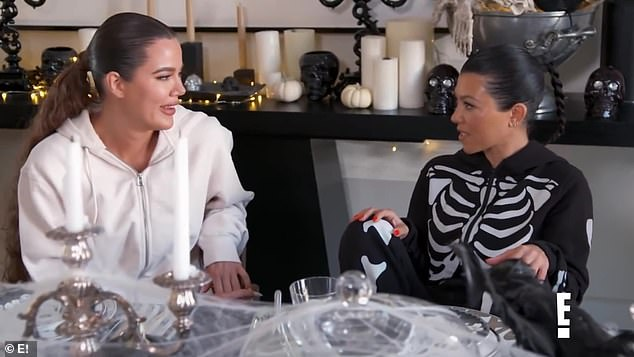 'I started her this collection of Hermes china last year for her birthday, so I got her like teacups and a teapot and all the tea stuff,' Kourtney admitted